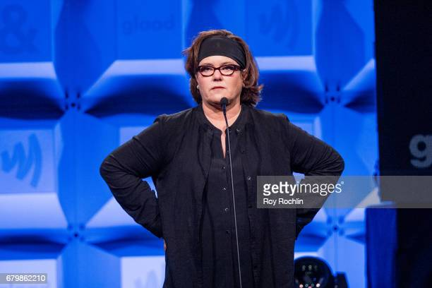 Comedian Rosie O'Donnell on stage during the 28th Annual GLAAD Awards at New York Hilton Midtown on May 6 2017 in New York City