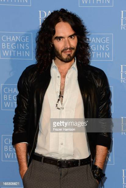 Comedian Russell Brand attends the Meditation In Education Global Outreach Campaign at The Billy Wilder Theater at the Hammer Museum on April 2 2013...