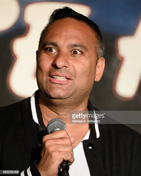 Comedian Russell Peters performs during his appearance at The Ice House Comedy Club on July 8 2015 in Pasadena California