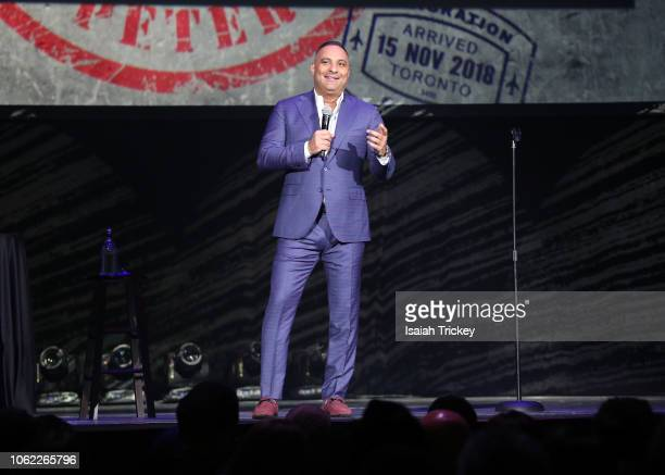 Comedian Russell Peters performs during his Deported World Tour at Scotiabank Arena on November 15 2018 in Toronto Canada