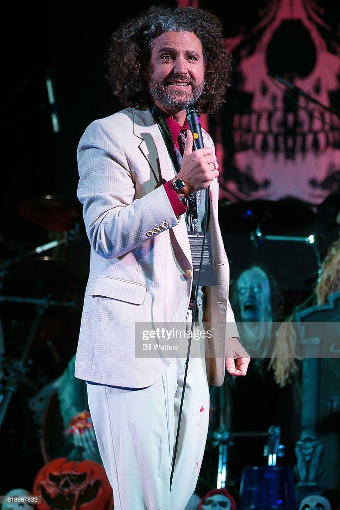 Comedian Ryan Singer performs at Alien Con's Halloween Party at the Santa Clara Convention Center on October 28, 2016 in Santa Clara, California.