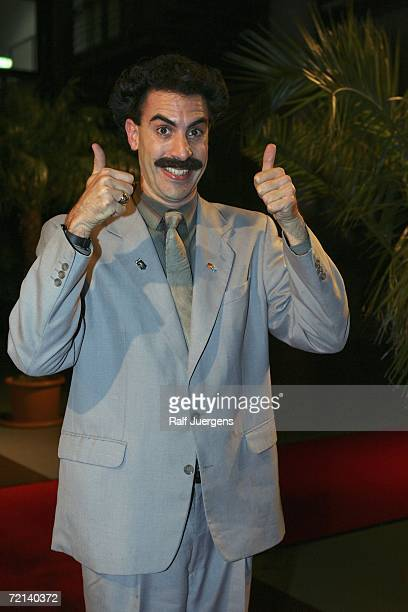 Comedian Sacha Baron Cohen attends the German Comedy Awards at The Coloneum on October 10 2006 in Cologne Germany