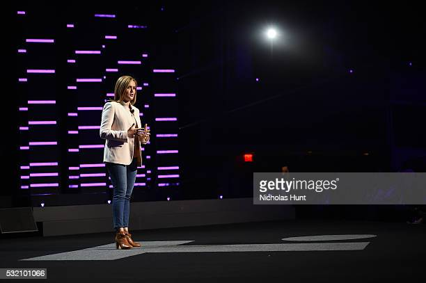 Comedian Samantha Bee appears on stage appears on stage during Turner Upfront 2016 show at The Theater at Madison Square Garden on May 18 2016 in New...