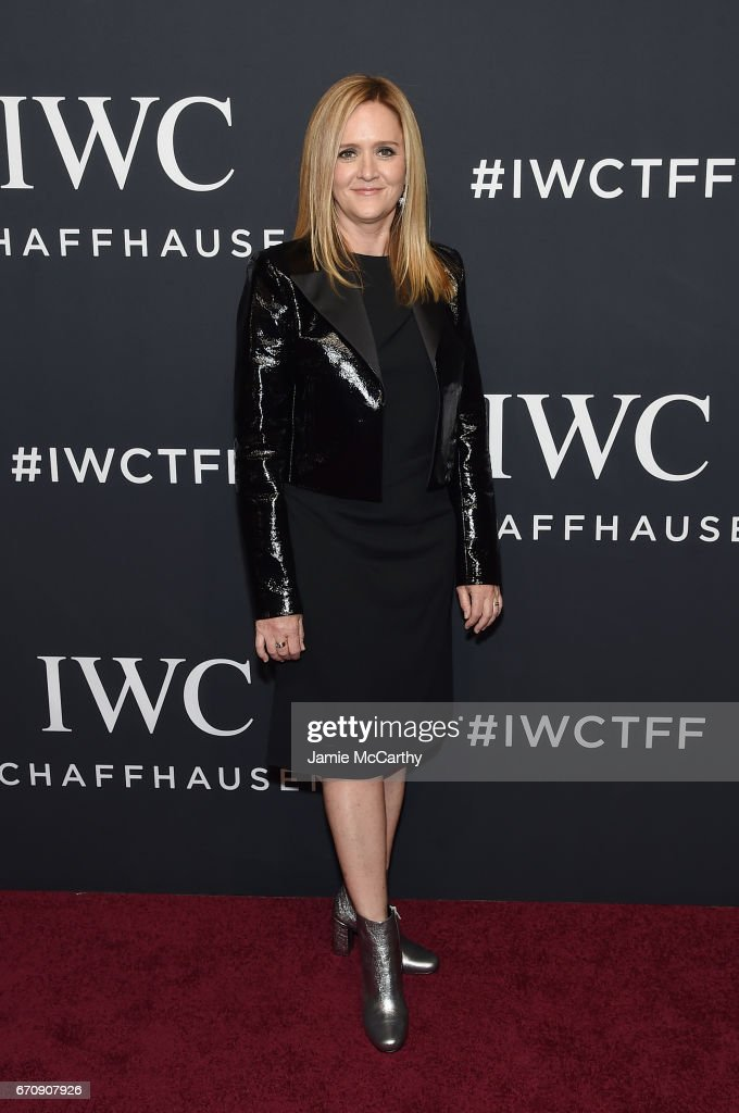 Comedian Samantha Bee attends the exclusive gala event 'For the Love of Cinema' during the Tribeca Film Festival hosted by luxury watch manufacturer IWC Schaffhausen on April 20, 2017 in New York City.
