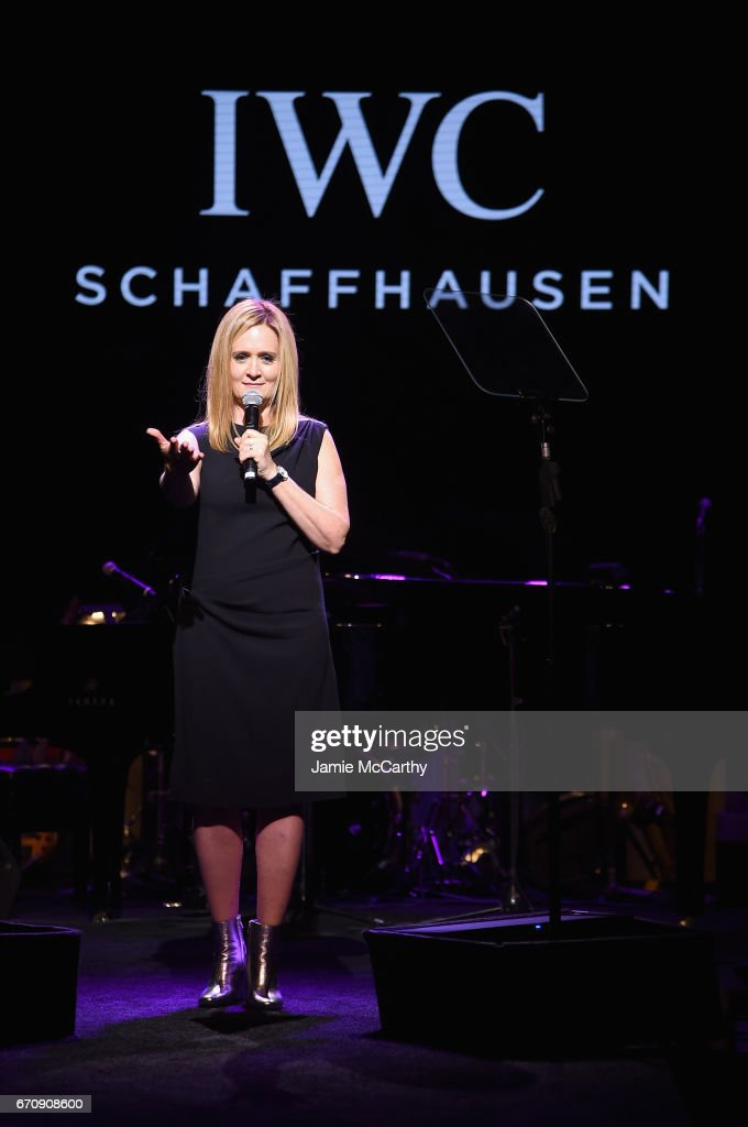 Comedian Samantha Bee speaks onstage during the exclusive gala event 'For the Love of Cinema' during the Tribeca Film Festival hosted by luxury watch manufacturer IWC Schaffhausen on April 20, 2017 in New York City.