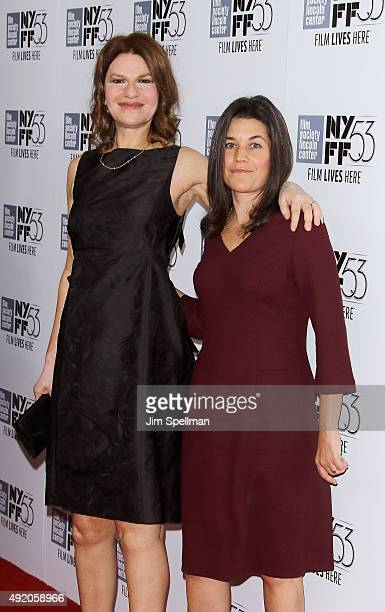 Comedian Sandra Bernhard and Sara Switzer attend the 53rd New York Film Festival premiere of Carol at Alice Tully Hall on October 9 2015 in New York...