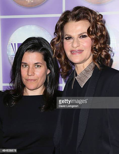 Comedian Sandra Bernhard and Sara Switzer attend the Family Equality Council's Los Angeles Awards Dinner at The Beverly Hilton Hotel on February 28...
