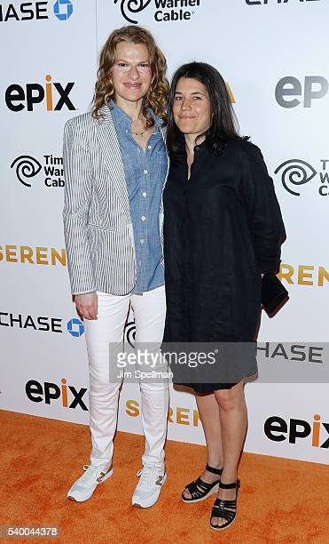 Comedian Sandra Bernhard and Sara Switzer attend the premiere of EPIX original documentary Serena at SVA Theatre on June 13 2016 in New York City