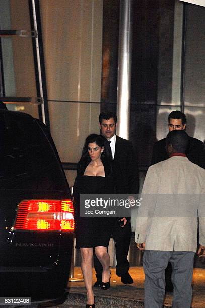 Comedian Sarah Silverman and TV personality Jimmy Kimmel attend the wedding of Howard Stern and Beth Ostrosky at Le Cirque on October 3 2008 in New...