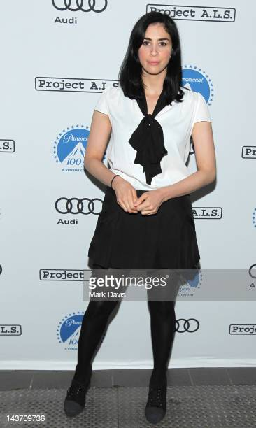 Comedian Sarah Silverman arrives at the 'A Night Of Comedy For Project ALS' held at the Jon Lovitz Comedy Club on May 2 2012 in Universal City...