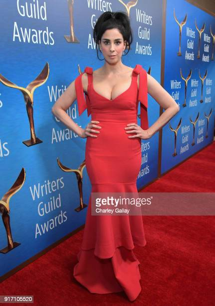 Comedian Sarah Silverman attends the 2018 Writers Guild Awards LA Ceremony at The Beverly Hilton Hotel on February 11 2018 in Beverly Hills California