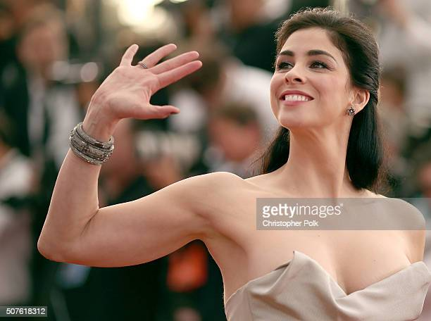 Comedian Sarah Silverman attends The 22nd Annual Screen Actors Guild Awards at The Shrine Auditorium on January 30 2016 in Los Angeles California...
