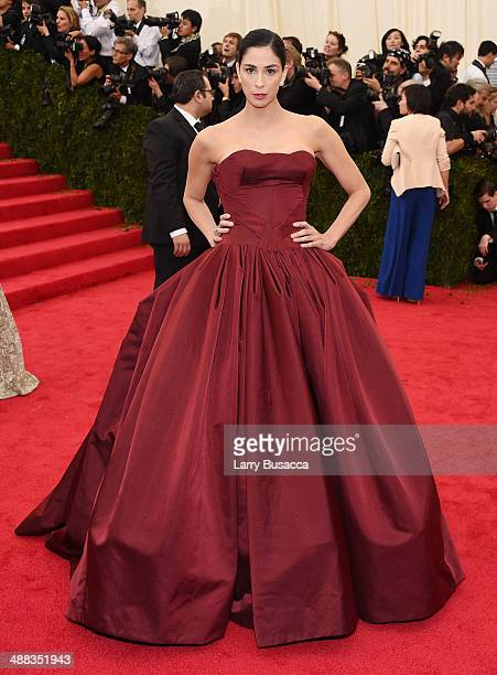 Comedian Sarah Silverman attends the 'Charles James Beyond Fashion' Costume Institute Gala at the Metropolitan Museum of Art on May 5 2014 in New...