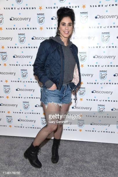 Comedian Sarah Silverman attends the NRDC's 'Night of Comedy' benefit at New York Historical Society on April 30 2019 in New York City