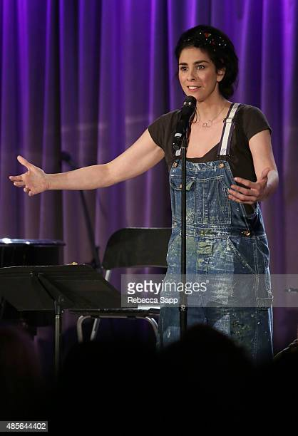 Comedian Sarah Silverman performs at AUDIBLE IMPACT Music Activism at on August 28 2015 in Los Angeles California