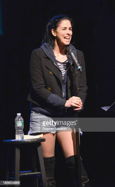 Comedian Sarah Silverman performs onstage at OneKid OneWorld Hosts A Night Of Comedy at Gramercy Theatre on October 22 2013 in New York City
