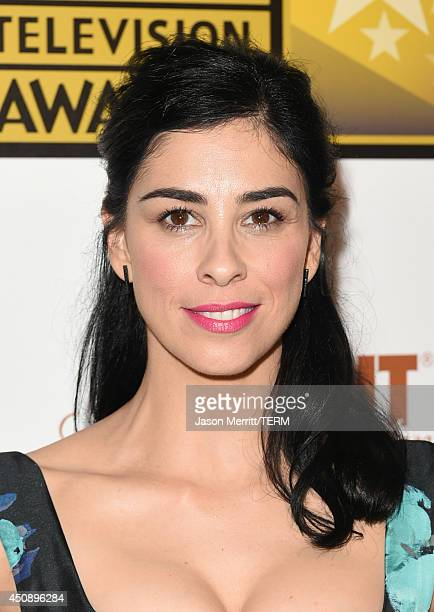 Comedian Sarah Silverman poses in the press room during the 4th Annual Critics' Choice Television Awards at The Beverly Hilton Hotel on June 19 2014...