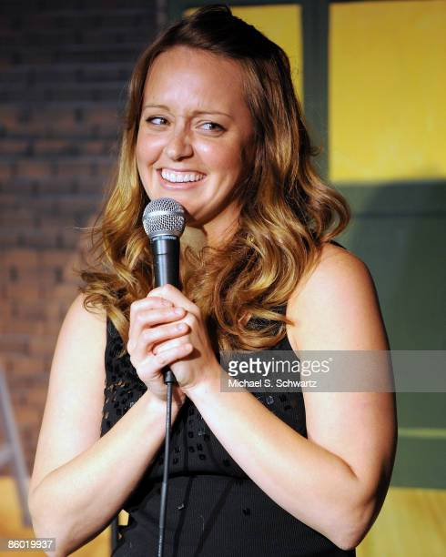 Comedian Sarah Tiana performs at the Ice House Comedy Club on April 16 2009 in Pasadena California
