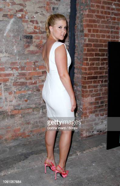 comedian schumer poses backstage at the christian siriano fashion show during mercedes-benz fashion - schumer stock pictures, royalty-free photos & images