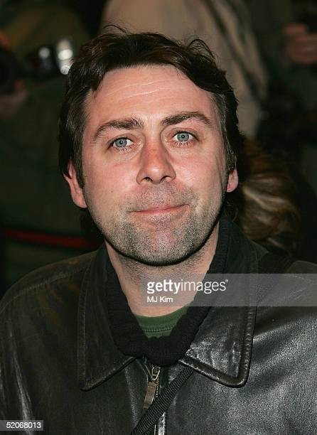 Comedian Sean Hughes arrives for the VIP Opening Night of Whose Life Is It Anyway starring Kim Cattrall at The Comedy Theatre January 26 2005 in...