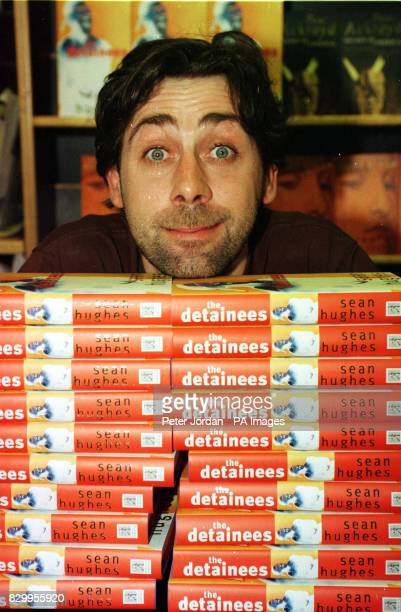 Comedian Sean Hughes at a signing session for his debut novel 'The Retainers' at Books Etc in Charing Cross Road London