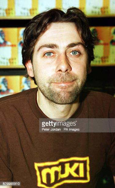 Comedian Sean Hughes at Books Etc in Charing Cross Road London where he was signing copies of his debut novel 'The Retainers'