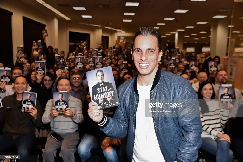 Comedian Sebastian Maniscalco during the signing of his new book, 'Stay Hungry' at Barnes & Noble at The Grove on March 13, 2018 in Los Angeles, California.