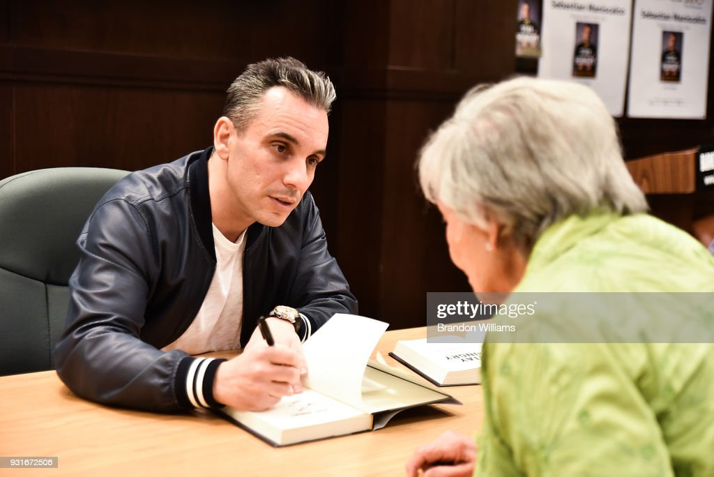 Comedian Sebastian Maniscalco during the signing of his new