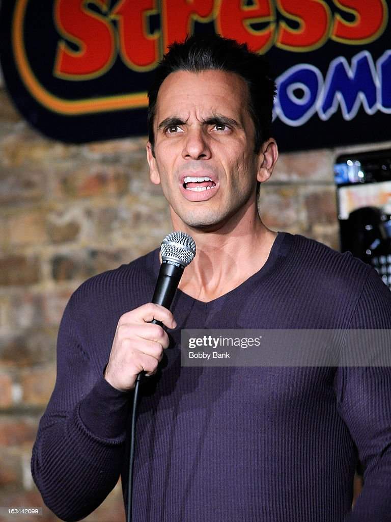 Comedian Sebastian Maniscalco performs live at The Stress Factory Comedy Club on March 9, 2013 in New Brunswick, New Jersey.
