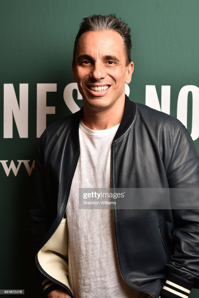 Comedian Sebastian Maniscalco poses for portraits during the signing of his new book, 'Stay Hungry' at Barnes & Noble at The Grove on March 13, 2018 in Los Angeles, California.