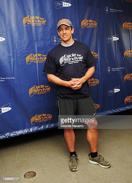 Comedian Seth Meyers attends 2012 Cycle For Survival - Day 2 at Equinox Graybar on February 12, 2012 in New York City.