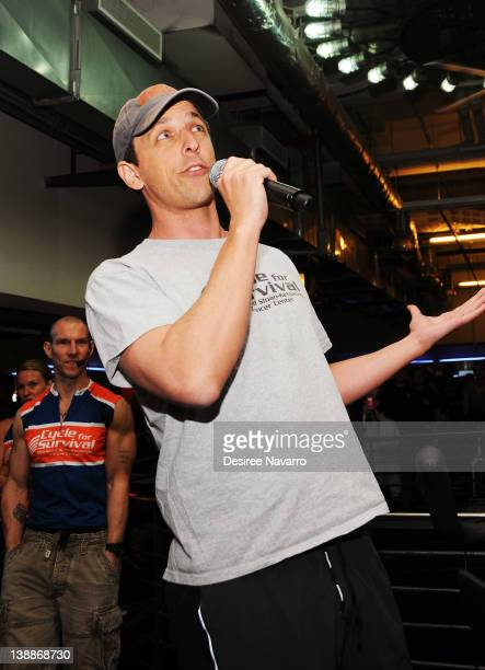 Comedian Seth Meyers attends 2012 Cycle For Survival Day 2 at Equinox Graybar on February 12 2012 in New York City