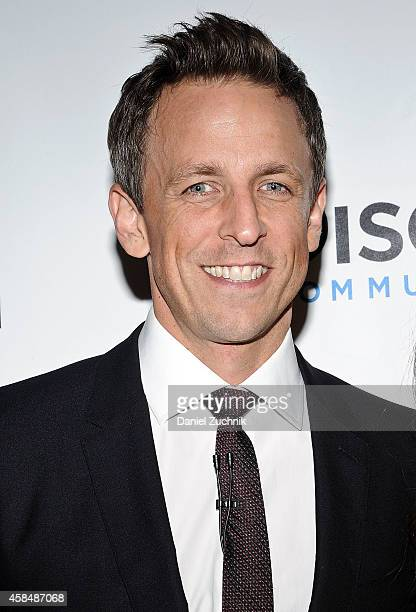 Comedian Seth Meyers attends NRDC's 'Night Of Comedy' benefiting the Natural Resources Defense Council at 583 Park Ave on November 5, 2014 in New...