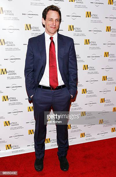 Comedian Seth Meyers attends the 2010 Matrix Awards presented by New York Women in Communications at The Waldorf=Astoria on April 19 2010 in New York...