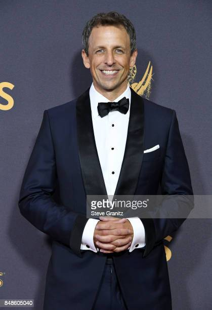 Comedian Seth Meyers attends the 69th Annual Primetime Emmy Awards at Microsoft Theater on September 17 2017 in Los Angeles California