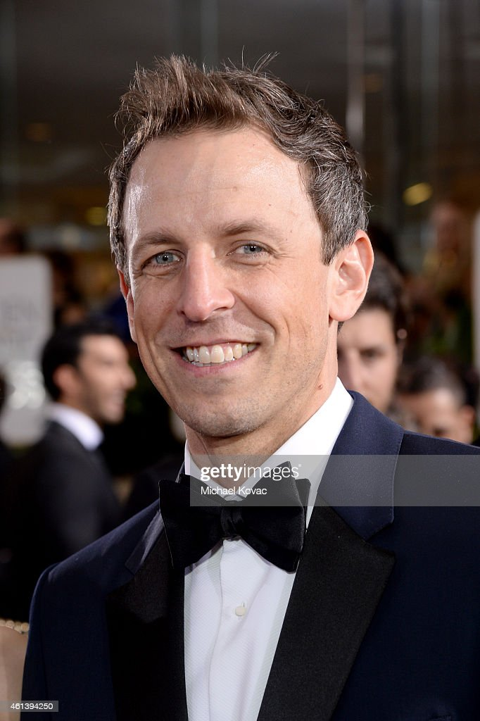 Comedian Seth Meyers attends the 72nd Annual Golden Globe Awards at The Beverly Hilton Hotel on January 11, 2015 in Beverly Hills, California.