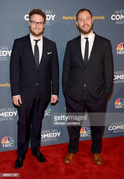 Comedian Seth Rogen and director Evan Goldberg attend 2014 American Comedy Awards at Hammerstein Ballroom on April 26, 2014 in New York City.