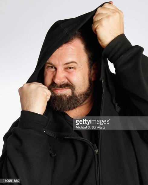 Comedian Shawn Halpin poses before his performance at The Ice House Comedy Club on March 8, 2012 in Pasadena, California.