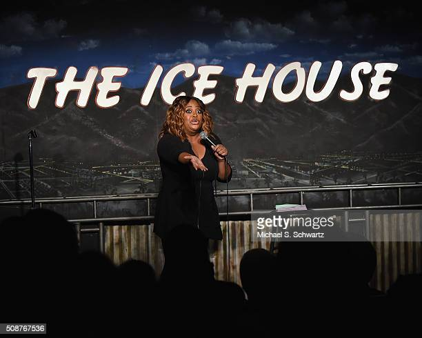 Comedian Sherri Shepherd performs during her appearance at The Ice House Comedy Club on February 5 2016 in Pasadena California