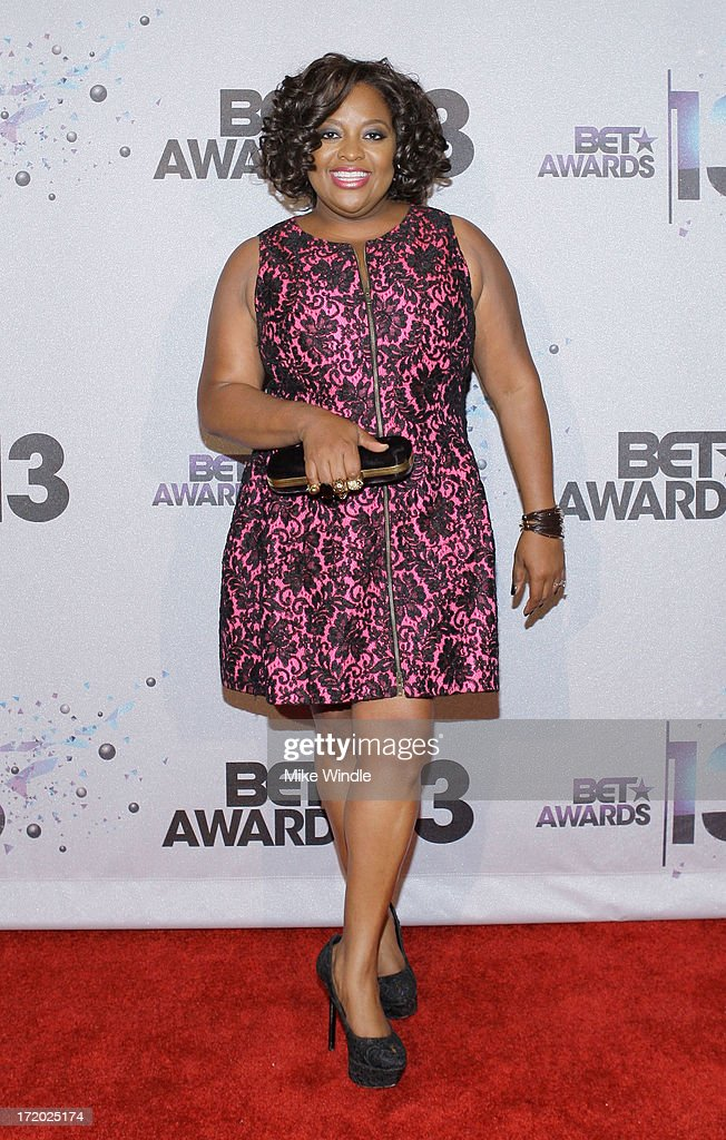 Comedian Sherri Shepherd poses in the Backstage Winner's Room at Nokia Theatre L.A. Live on June 30, 2013 in Los Angeles, California.