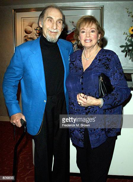 Comedian Sid Caesar and his wife Florence attend the Friars Club of California event honoring television comedy writer Buddy Arnold November 28 2001...