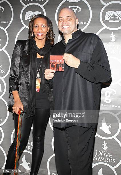 Comedian Sinbad and daughter Paige Adkins pose in the press room at the 40th Annual GMA Dove Awards held at the Grand Ole Opry House on April 23,...