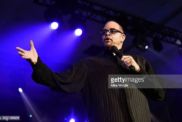 Comedian Sinbad performs onstage during Muhammad Ali's Celebrity Fight Night XXII at the JW Marriott Phoenix Desert Ridge Resort Spa on April 8 2016...