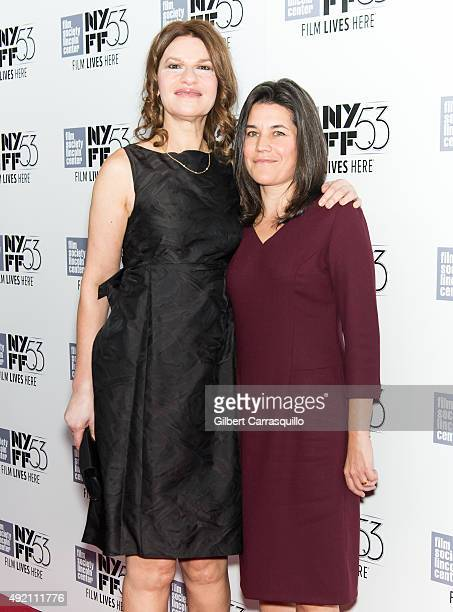 Comedian singer actress and author Sandra Bernhard and Sara Switzer attends 53rd New York Film Festival 'Carol' at Alice Tully Hall on October 9 2015...