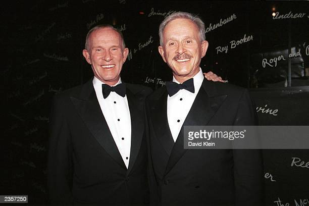Comedian Singers Tom and Dick Smothers pose at The Comedy Store in West Hollywood where The Smothers Brothers performed for the Children of the Night...