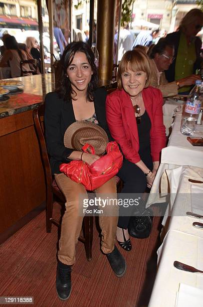 Comedian Sophie Mourousi and TV presenter Marie Laure Augry attends the Mondial la Marseillaise a Petanque 2011 Press Conference at Hotel Normandy on...