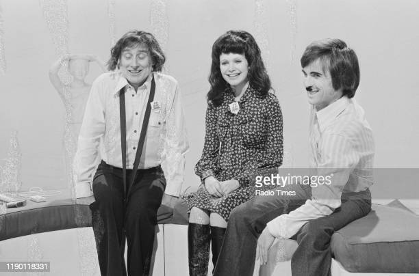 Comedian Spike Milligan and actress Madeline Smith in a scene from the BBC television comedy episode 'Milligan in Autumn' September 21st 1972