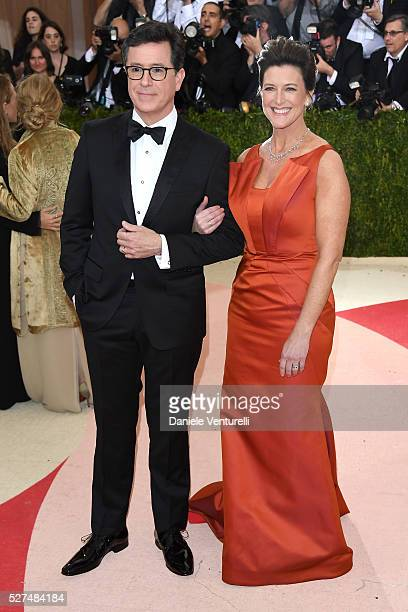 Comedian Stephen Colbert and Evelyn McGeeColbert attend the 'Manus x Machina Fashion In An Age Of Technology' Costume Institute Gala at Metropolitan...