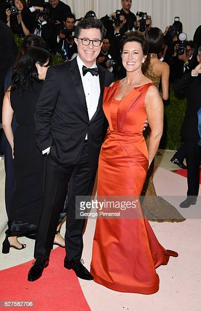 Comedian Stephen Colbert and Evelyn McGeeColbert attends the 'Manus x Machina Fashion in an Age of Technology' Costume Institute Gala at the...