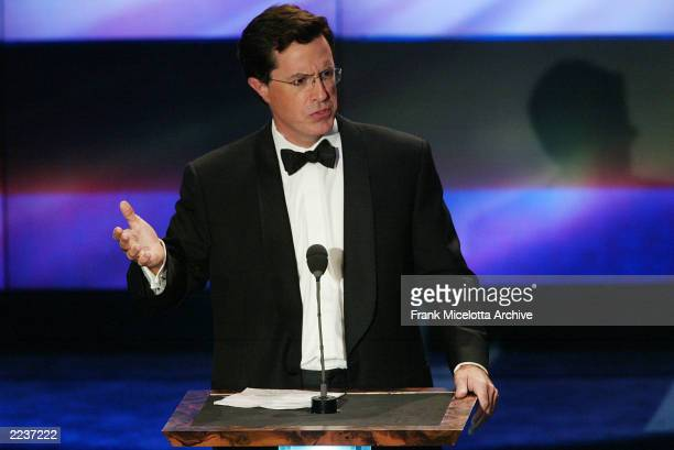 Comedian Stephen Colbert during The New York Friars Club Roast of Chevy Chase presented by Comedy Central at the New York Hilton in New York City...